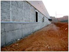 Mur béton et agglo